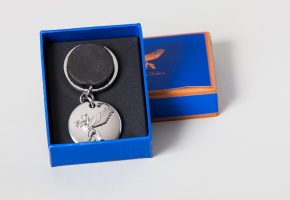 Silver Plated Keyring and box