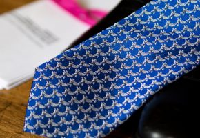 Patterned Inner Temple Tie