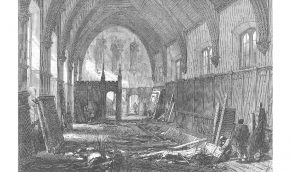 Hall-old-demolition-woodcut-1869-ILN