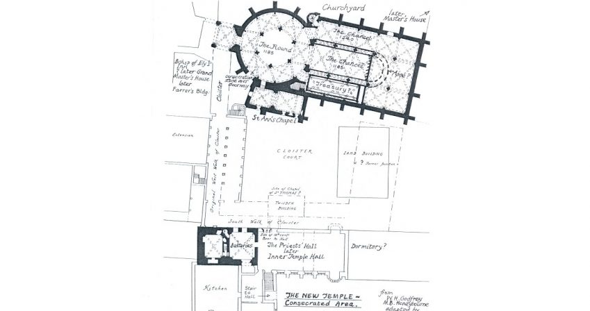 old-map-of-Inner-Temple-and-church