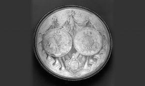 Britannia silver-gilt tazza, 1720