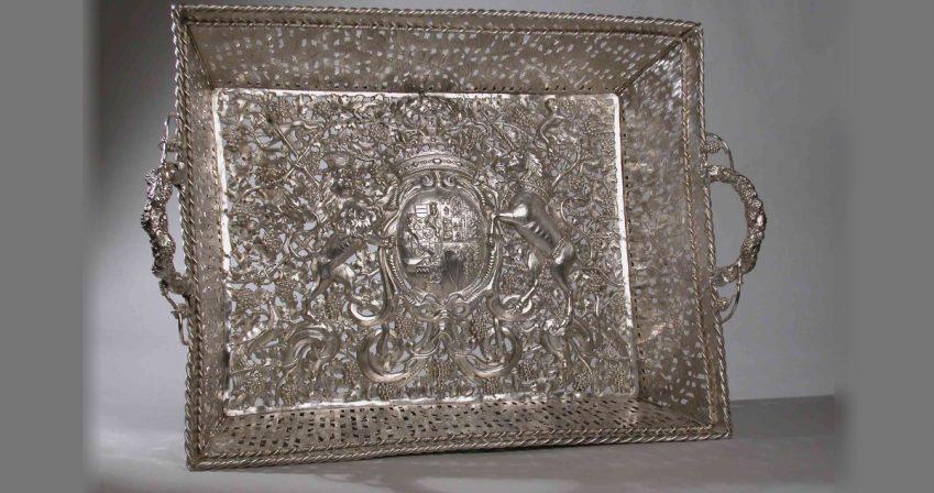 Dutch silver layette basket, 1645